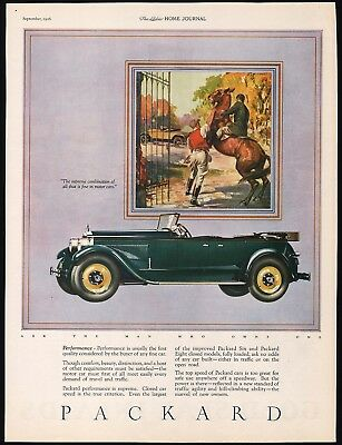Vintage magazine ad PACKARD automobile 1926 picturing convertible car