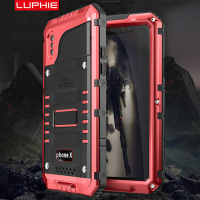 Waterproof Shockproof LUPHIE Aluminum Metal Case Cover for iPhone XS 6S 7 8 Plus