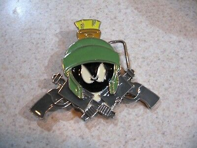 Marvin The Martian Metal Belt buckle Space Lic, Loony Tunes WB