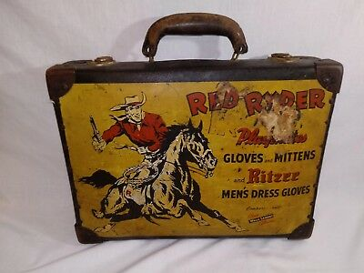 1940's RED RYDER GLOVES Wells Lamont Salesman Sample STORE DISPLAY Suitcase~RARE