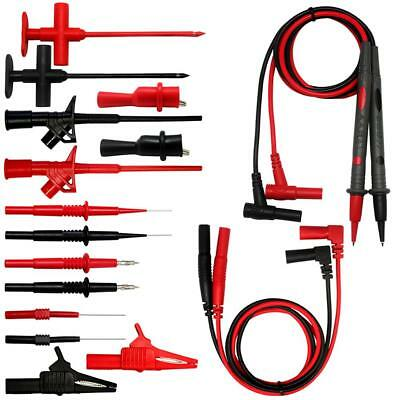 AideTek Automotive 9 in 1 Silicone Test Leads Kit Crocodile Clips 32A TLP20169