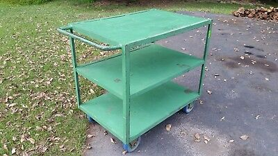 Wheeled Warehouse Utility Cart ~ Inventory Commercial Manufacturing ~Heavy Duty!