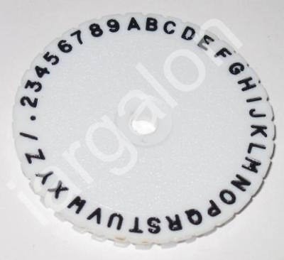 """DYMO Type Wheel 2-7/16"""" American 180 3000-75 USED for M10 M-14 M-38 2000 Letter"""