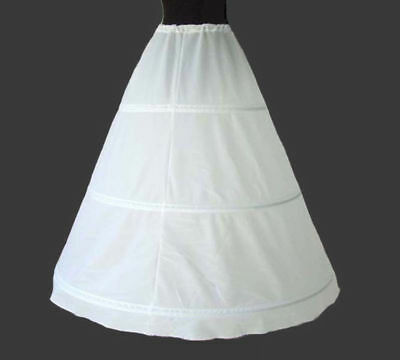 3 Hoops A Line Wedding Dress Crinoline Prom Gown Petticoat Skirt Underskirt