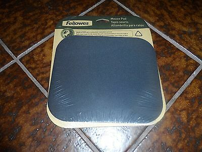 FELLOWES MOUSE PAD 8x9 BLACK NEW