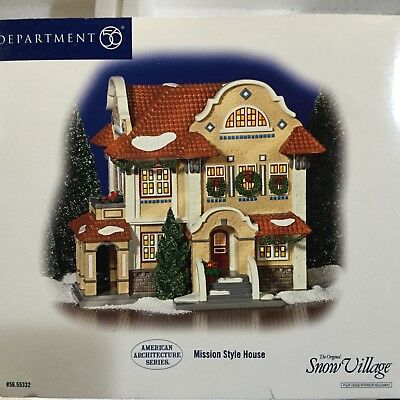 Dept 56 Snow Village® MISSION STYLE HOUSE -  BRAND NEW