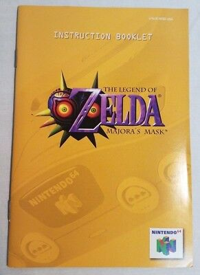 Legend of Zelda: Majora's Mask Instruction Booklet (Nintendo 64)