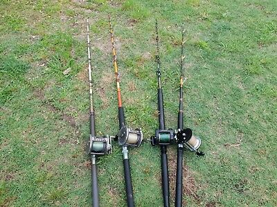 Used fishing rods reels.Werry good condition. Heavy duty fishing roads