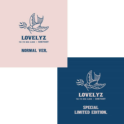 LOVELYZ SANCTUARY 5th Mini Album NORMAL/LIMITED CD+POSTER+PBook+Card+Mark SEALED