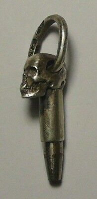 Chatelaine Skull Key Imperial Russian 84 Silver S.Peterburg 1910