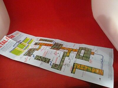 Metal Gear Nintendo NES Foldable Poster Map Insert ONLY