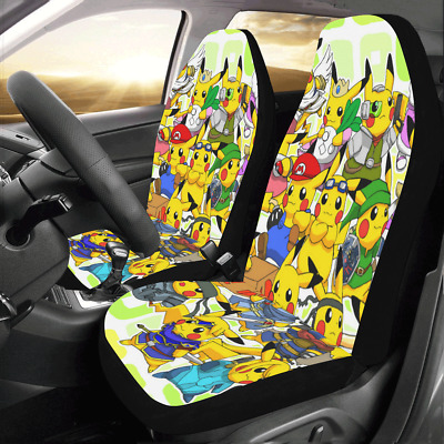 InterestPrint Universal Skull and Flowers Two Front Car Seat Covers Set 100/% Breathable