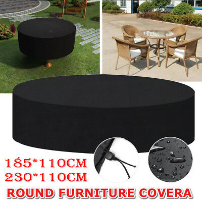 US Round Waterproof Outdoor Patio Table Cover Garden Yard Furniture Protection