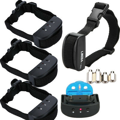 3xPetrainer Anti Bark Shock Dog Trainer Stop Barking Pet Training Control Collar