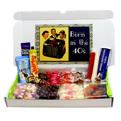 Born In The 40S Old Fashioned Sweets Gift Box