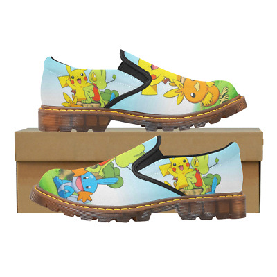 Hot Sale Womens Slip On Loafer Printed Pokemon Shoes Comfy Ladies Casual Flats