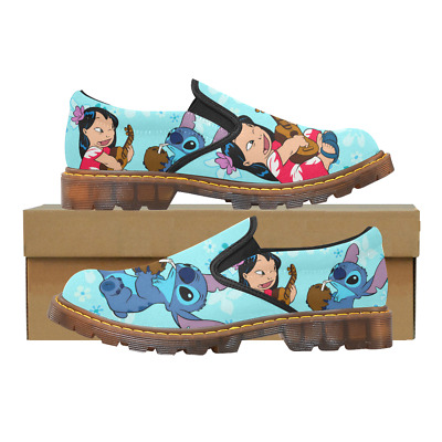Custom Comfy Ladies Casual Flats Womens Slip On Loafer Lilo And Stitch Shoes