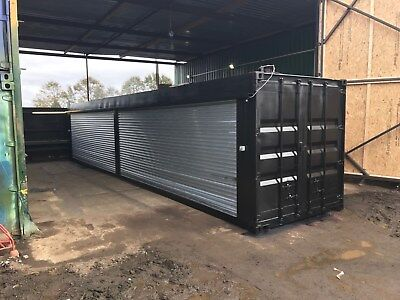 40ft x 8ft Double Roller Shutter Shipping Container - Leeds