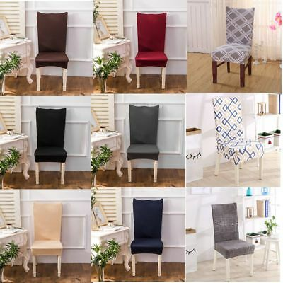 4pcs/Set  Removable Stretch Slipcovers Short Dining Room Stool Seat Chair Cover