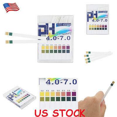 PH Test Strips 4.0-7.0 0.5 Precision Acid And Alkali Indicator Paper 100pcs US