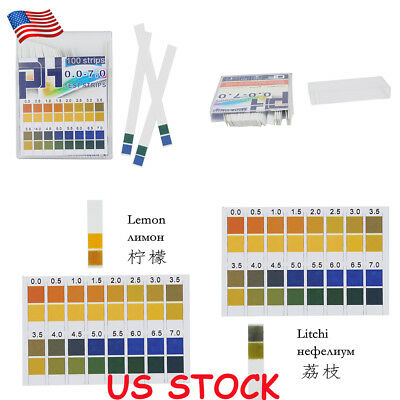 US Tester Urine Saliva Test Strips PH 100pcs 0-7 Kit Alkaline Acid Indicator Hot