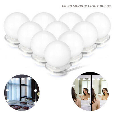 Led Night Lights Diy 10led Dimmable Vanity Mirror Lights Kit Bulbs For Makeup Mirror Luce Per Specchio Da Trucco@30 Led Lamps