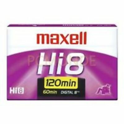 Maxell Hi 8 Video Cassette P6-120HM Broadcast Quality Back Coated