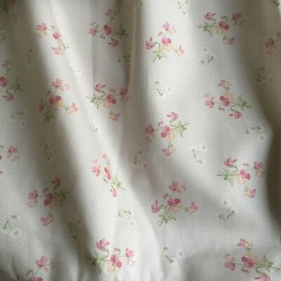 Vintage Laura Ashley Whimsy Pink Curtains