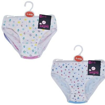 Girl's Cotton Underwear Rose Girls Briefs Grils Panties Knickers Pack 3