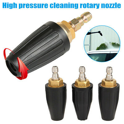 Rotating High Power Washer Turbo Nozzle 3600 PSI 4.0 GPM 250 BAR Black