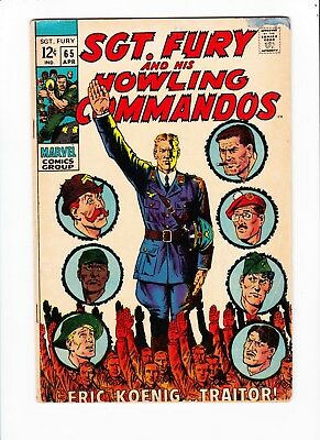 Sgt Fury and his Howling Commandos #65 - silver age - Fine - .99 sale! - NR
