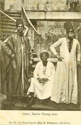 Cpa Egypte Le Caire Native Young Man Dnd Union Postale Universelle