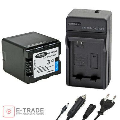 2800mAh Battery or CHARGER // VW-VBN260 vbn 260 for Panasonic - FORMAX VW-VBN130