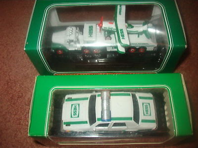 New HESS Miniatures Lot HESS PATROL CAR + TRUCK & AIRPLANE Rare Miniature Toys