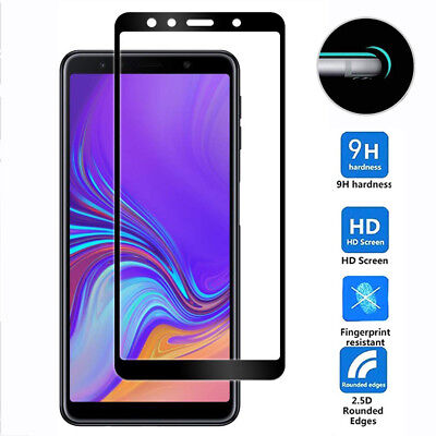 5D Full Tempered Glass Film Protector for Samsung Galaxy A7 2018/J4 J6 Plus Film