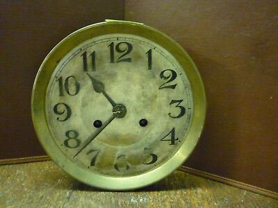 Original Art Deco Striking Wall Clock Spring Driven Movement+Dial (8)