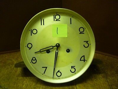 Original Art Deco Striking Wall Clock Spring Driven Movement+Dial (1)