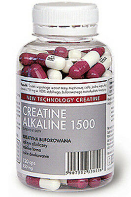 Strong Creatine Alkaline 1500 Mg Serving Buffered Monohydrate Capsules 120 Caps