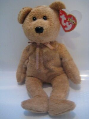 fedc3c19b2e Collectible NWTs Ty Beanie Baby Cashew Bear 2000 Error PE Pellets New HTF  NLA
