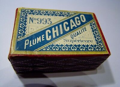 "Boite Remarquable Scellee  De 100 Plumes Neuves "" Plume Chicago  N° 993 """