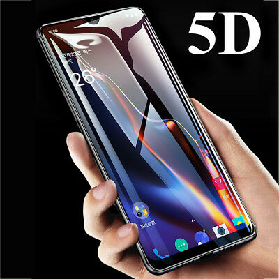 5D 9H Full Cover Tempered Glass Fim Protector for One Plus 6T/6 5T Screen Guard