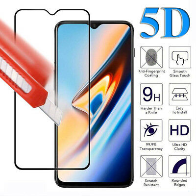 For One Plus 6T 6 5T Tempered Glass Film Protector 5D 9H Full Cover Screen Guard