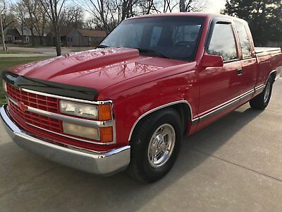 1992 Chevrolet C/K Pickup 1500  1992 chevy truck show lowered barn find classic