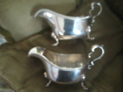 English shilver pair of sauce boats