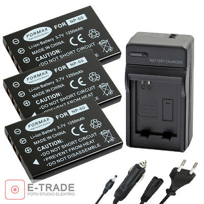 Battery / CHARGER for Fuji NP-60 / Casio NP-30 / HP L1812A / KLIC-5000 /SLB-1137