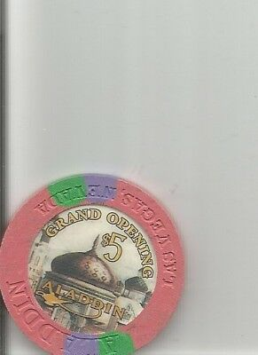 $5 aladdin grand opening obsolete las vegas nevada  casino chip