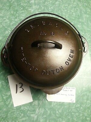 Vintage Griswold No.8 Dutch Oven #2551-B Lid #1278-C Bottom Very Nice Condition