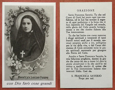 Santino Holy Card: Santa Francesca Saverio Cabrini