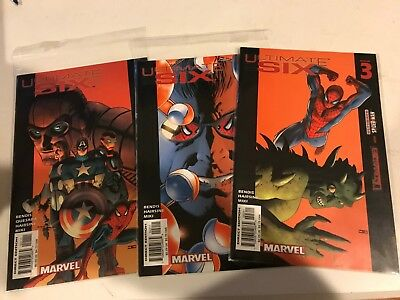Ultimate Six #1 2 3 4 5 6 7 Bendis Marvel Comics Complete Set Spider-Man NM full