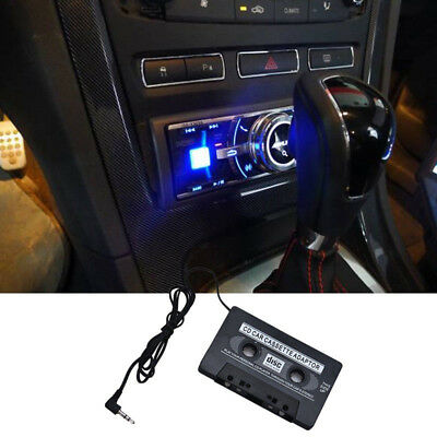 Car Cassette Adapter Tape For MP3 MP4 Android MD CD Black 0.3M Cable Durable
